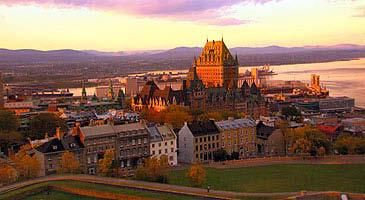 Canada - Montreal or Quebec - Scenic Cityscape
